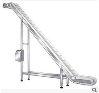 物流装卸货输送设备 可移动爬坡式输送机 大倾角不锈钢爬坡输送机