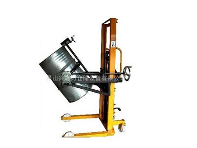 可倾式倒料机液压装缷车 油桶搬运车