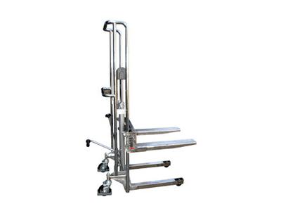 专业定制优客力不锈钢脚踏式轻型堆高车PF4150-B