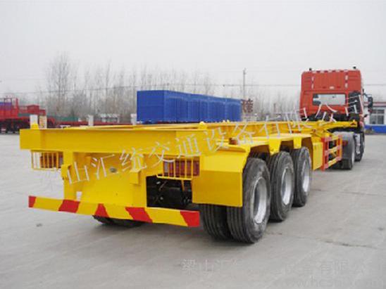 昊统LWG9400TJZG集装箱运输半挂车