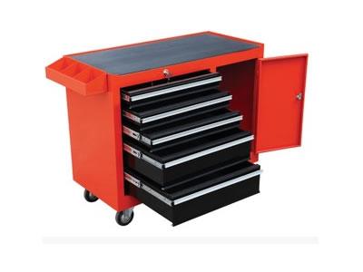 五层带柜工具车 5抽屉一柜工具柜 手推车 重型工具车
