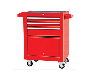 四层带柜工具车/零件车/手推车/工具车柜/铁皮柜
