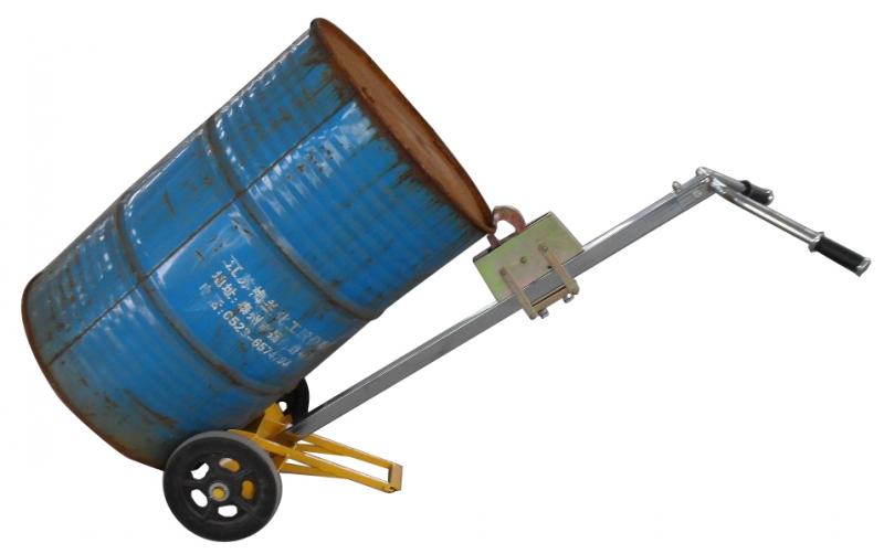 厂家直供:简易型圆桶搬运车 轻便型圆桶手动搬运叉车 倒料车