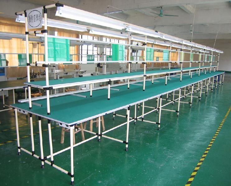 大量供应黑色复合管工作台 防静电工作台 线棒工作台