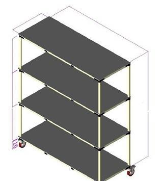 专业生产线棒仓储货架 防静电精益管流利架 可移动复合管货架