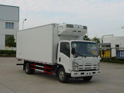 庆铃 700P系列 190马力 4X2 冷藏车(镇江康飞牌)