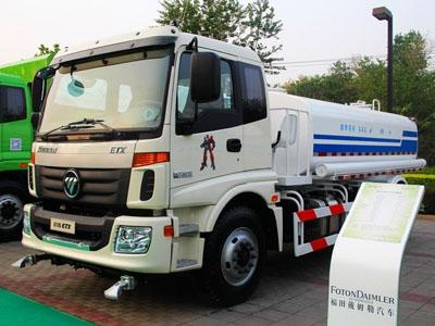 福田 欧曼ETX 210马力 4X2 洒水车(国五)