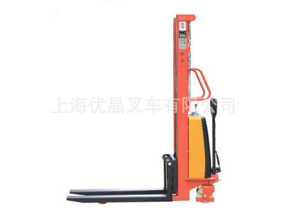 上海品牌 半电动堆高车 电动堆垛车 半电动托盘堆垛车