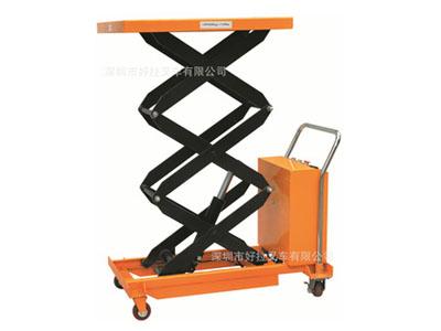 三叉移动式电动平台 500kg升高2米移动直流平台