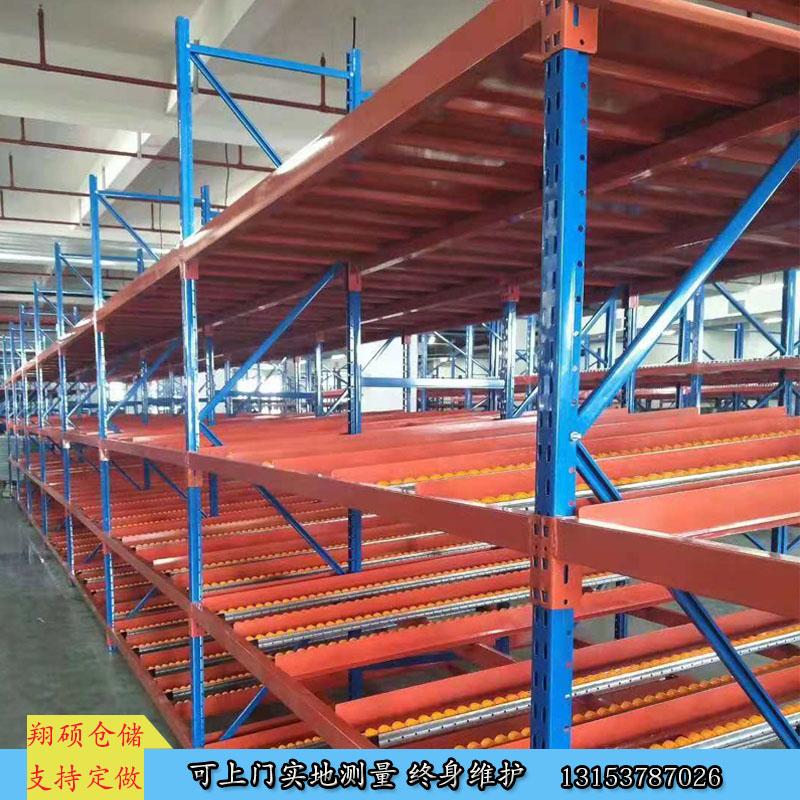 侧滑式仓库货架 流利条辊轮式 山东专业生产商
