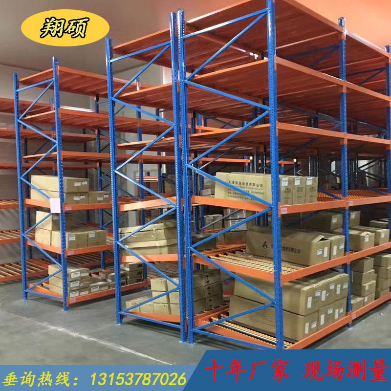 侧滑式流利仓储货架 流利条滚轮 货架设备